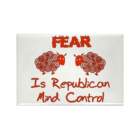 Fear Politics Rectangle Magnet (100 pack)