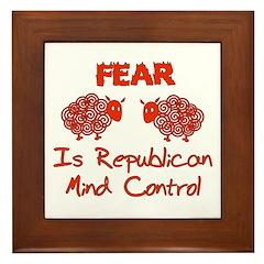 Fear Politics Framed Tile