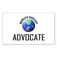 World's Coolest ADVOCATE Rectangle Decal