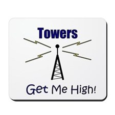 Towers Make Me High! Mousepad