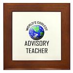 World's Coolest ADVISORY TEACHER Framed Tile