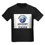 World's Coolest ADVISORY TEACHER Kids Dark T-Shirt