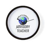 World's Coolest ADVISORY TEACHER Wall Clock