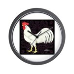 Leghorn Rooster Wall Clock
