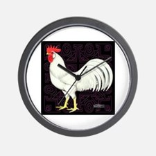 Leghorn Rooster Wall Clock