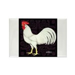 Leghorn Rooster Rectangle Magnet (100 pack)