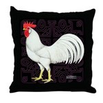 Leghorn Rooster Throw Pillow