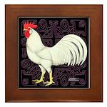 Leghorn Rooster Framed Tile