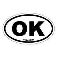 OK Oklahoma Euro Oval Decal