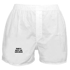 party with the unicorns Boxer Shorts