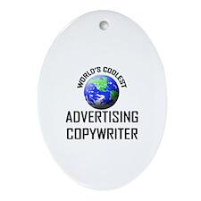 World's Coolest ADVERTISING COPYWRITER Ornament (O