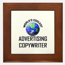 World's Coolest ADVERTISING COPYWRITER Framed Tile
