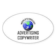 World's Coolest ADVERTISING COPYWRITER Decal