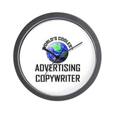 World's Coolest ADVERTISING COPYWRITER Wall Clock