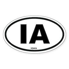 IA Iowa Euro Oval Stickers
