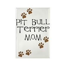 Pit Bull Terrier Mom Rectangle Magnet