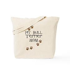 Pit Bull Terrier Mom Tote Bag