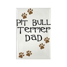Pit Bull Terrier Dad Rectangle Magnet