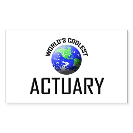 World's Coolest ACTUARY Rectangle Sticker