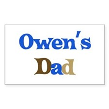 Owen's Dad Rectangle Decal
