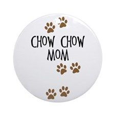 Chow Chow Mom Ornament (Round)