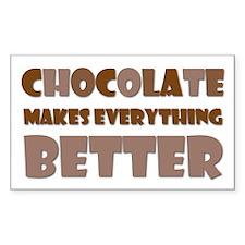 Cute Chocolate Saying Rectangle Decal