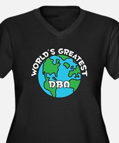 World's Greatest DBA (G) Women's Plus Size V-Neck