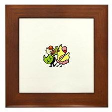 Dancing Chickens Framed Tile