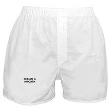 rescue a unicorn Boxer Shorts