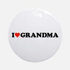 I Heart [Love] Grandma Ornament (Round)