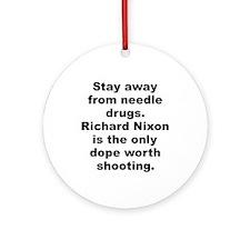 Unique Richard nixon Ornament (Round)