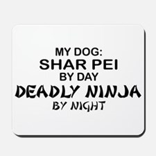 Shar Pei Deadly Ninja Mousepad
