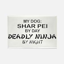 Shar Pei Deadly Ninja Rectangle Magnet