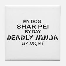 Shar Pei Deadly Ninja Tile Coaster