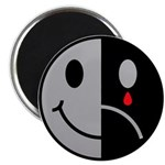 "Happy Face Sad Face 2.25"" Magnet (10 pack)"