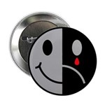 "Happy Face Sad Face 2.25"" Button (10 pack)"