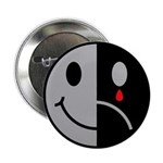 "Happy Face Sad Face 2.25"" Button (100 pack)"