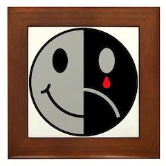 Happy Face Sad Face Framed Tile
