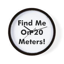 Find Me On 20 Meters! Wall Clock