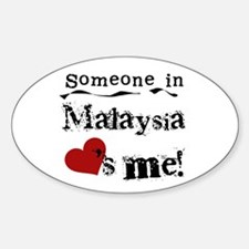 Malaysia Loves Me Oval Decal