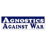 Agnostics Against War car sticker