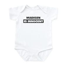 MADISEN is innocent Infant Bodysuit