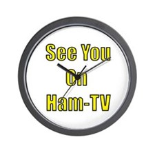 See You On Ham-TV Wall Clock