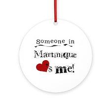 Martinique Loves Me Ornament (Round)