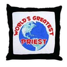 World's Greatest Priest (F) Throw Pillow