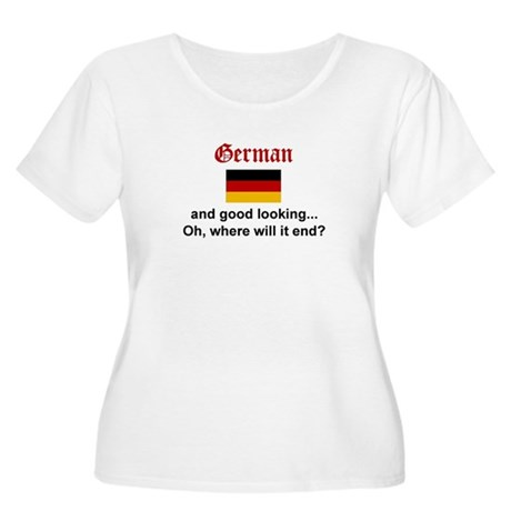 Gd Lkg German Women's Plus Size Scoop Neck T-Shirt