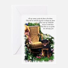 Rottweiler Art Greeting Card