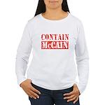CONTAIN MCCAIN Women's Long Sleeve T-Shirt