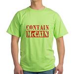 CONTAIN MCCAIN Green T-Shirt