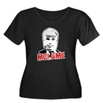 McLame Women's Plus Size Scoop Neck Dark T-Shirt